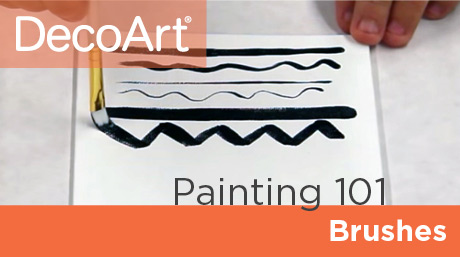 Canvas Painting 101 - Brushes