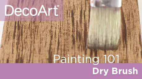 Canvas Painting 101 - Drybrushing