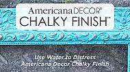 How to use water to distress with Americana Decor Chalky Finish