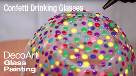 Add a Confetti Pattern to Drinking Glasses