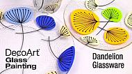 How to Paint Whimsical Dandelions on Glass