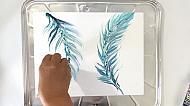 Art for Everyone - Art Wellness - Tranquil Feather Pour