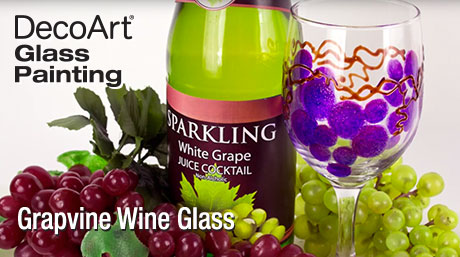 Paint a Grapevine Design on a Wine Glass