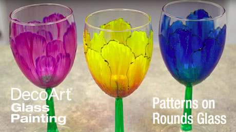 Using a Pattern on Round Glass