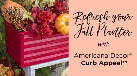 Refresh a Planter for Fall with Americana Decor Curb Appeal