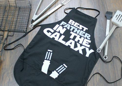 Galactic BBQ Apron for Dad