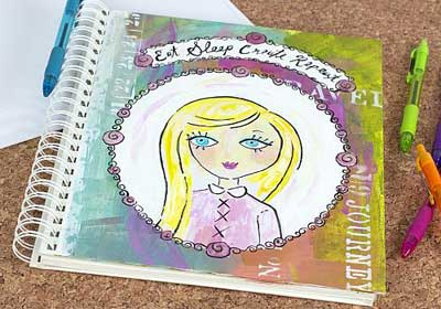 Eat Sleep Create Repeat Mixed Media Journal