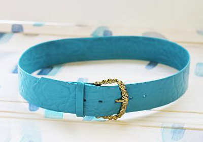 Glossy Turquoise Belt