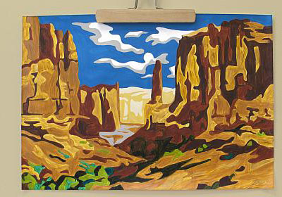 Grand Canyon Paint By Number
