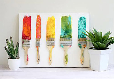 Rainbow Mixed Media Paint Swatches
