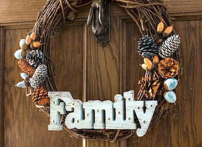 Light-Up Family Fall Wreath