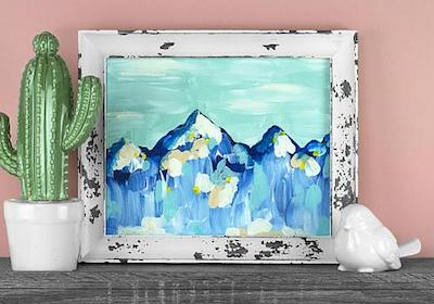 Cheerful Mountains Painting