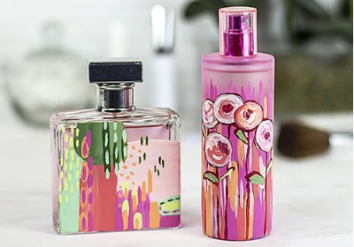 Painterly Patterned Perfume Bottles