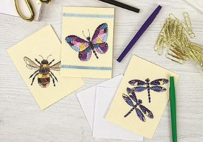 Fluttering Friends Quilted Art Cards