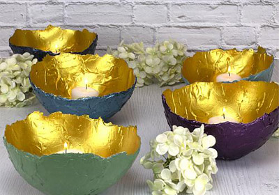 Decorative Bowls with Texture and Gold