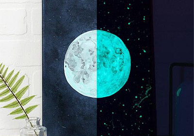 Glow in the Dark Moon Art