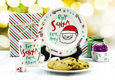 Santa's Milk and Cookies Mug and Plate Set