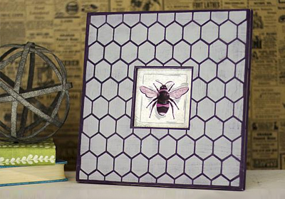 Honeycomb Frame With A Bee