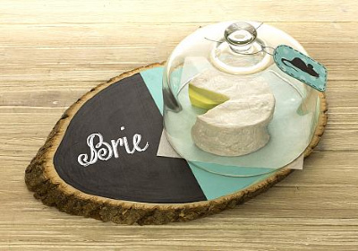 Modern and Rustic Country Round Cheese Plate