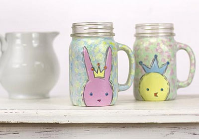 Sweet Easter Bunny and Chick Mugs